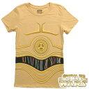 スターウォーズ グッズ コスプレ Tシャツ C3PO 半袖Tシャツ 女性用 黄色