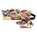 T.S. Shure社製 知育玩具 レーシングカー 木製マグネット20ピース キャリーケース付き プレイセット おもちゃ