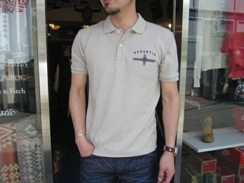 ACOUSTIC(アコースティック)FLY HIGH POLO SHIRTS(フライハイ ポロシャツ)【3色展開(WHITE,GREY,BL...