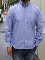 ACOUSTIC(アコースティック)OXFORDB/DSHIRTS(オックスフォードボタンダウンシャツ)『blueoxford』頑丈な生地メンズ長袖シャツ送料無料あす楽対応