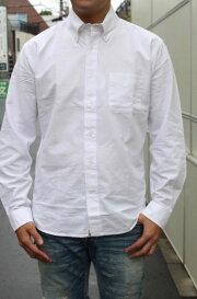 ACOUSTIC(アコースティック)OXFORDB/DSHIRTS(オックスフォードボタンダウンシャツ)『whiteoxford』頑丈な生地メンズ長袖シャツ送料無料