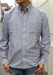 ACOUSTIC(アコースティック)OXFORDB/DSHIRTS(オックスフォードボタンダウンシャツ)『grayblackoxford』頑丈な生地メンズ長袖シャツ送料無料