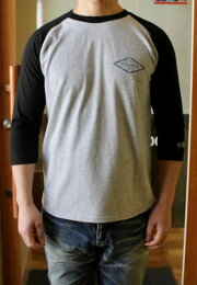 ACOUSTIC(アコースティック)R.M.CSUPPLYQ/STEE(ラグラン7分袖Tシャツ)ラグランTシャツ丈夫大きなサイズあり男女兼用【2色展開/2020年新作】