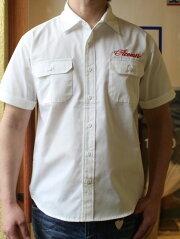 ACOUSTIC(アコースティック)SOLIDWORKS/SSHIRTS(ソリッド半袖ワークシャツ)エイジングも楽しめる頑丈な半袖シャツメンズ半袖シャツ大きなサイズあり送料無料