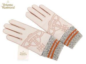 大きなオーブの刺繍がポイント!ヴィヴィアンウエストウッド Vivienne Westwood 羊革手袋16,2...