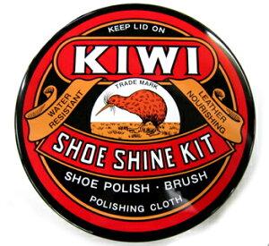 KIWIブランドパーフェクトセット靴のお手入れセットギフトにもどうぞ。KIWIシューシャインキッ...