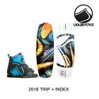 2018LIQUIDFORCEリキッドフォースウェイクボードWAKEBOARDTRIP138+バインディングBINDINGINDEXBLUE/BLACK8-12