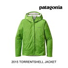 2015PATAGONIA�ѥ����˥����㥱�å�TORRENTSHELLJACKETCTFCILANTROW/FORGEGREY