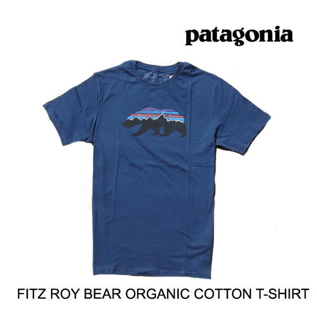 トップス, Tシャツ・カットソー PATAGONIA T FITZ ROY BEAR ORGANIC T-SHIRT SNBL STONE BLUE 39143