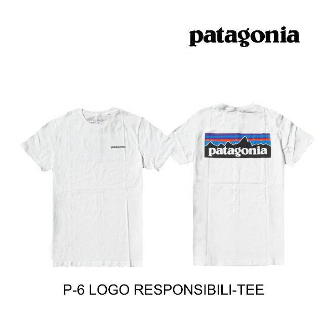 トップス, Tシャツ・カットソー PATAGONIA P-6 T P-6 LOGO RESPONSIBILI-TEE WHI WHITE