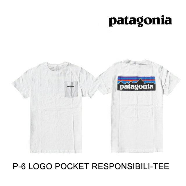トップス, Tシャツ・カットソー PATAGONIA P-6 T P-6 LOGO POCKET RESPONSIBILI-TEE WHI WHITE 39178