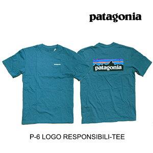 PATAGONIA パタゴニア P-6 ロゴ レスポンシビリティー メンズ Tシャツ P-6 LOGO RESPONSIBILI-TEE TATE TASMANIAN TEAL
