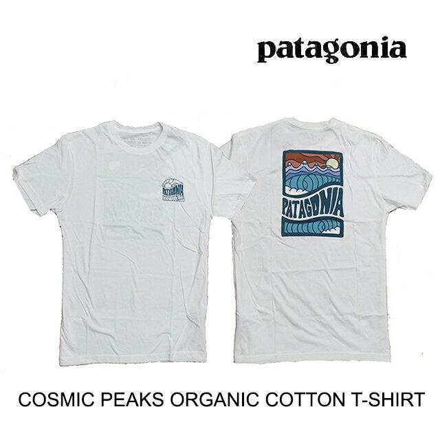 トップス, Tシャツ・カットソー PATAGONIA T COSMIC PEAKS ORGANIC T-SHIRT WHI WHITE