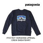 2019PATAGONIAパタゴニアスウェットシャツFITZROYHORIZONSUPRISALCREWSWEATSHIRTCNYCLASSICNAVY