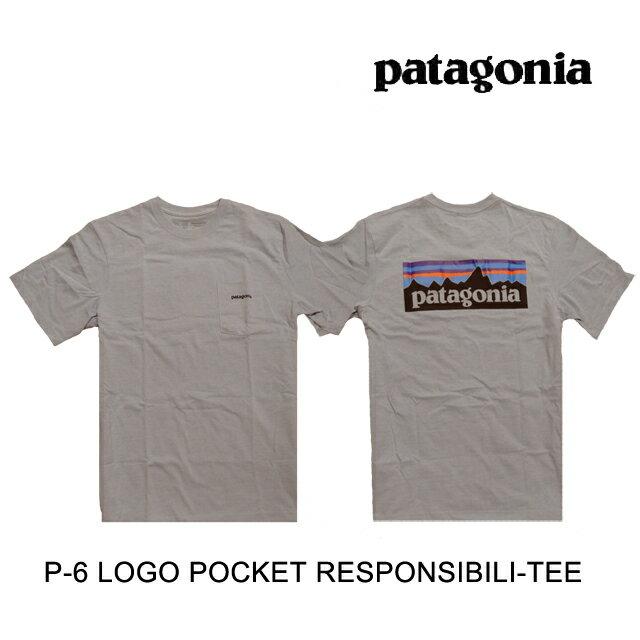 トップス, Tシャツ・カットソー PATAGONIA P-6 T P-6 LOGO POCKET RESPONSIBILI-TEE GLH GRAVEL HEATHER 38512