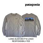 PATAGONIAパタゴニアロングスリーブP-6ロゴレスポンシビリティーメンズTシャツLONG-SLEEVEDP-6LOGORESPONSIBILI-TEEGLHGRAVELHEATHER38518