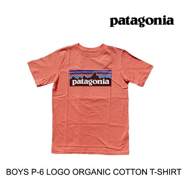 トップス, Tシャツ・カットソー PATAGONIA P-6 T BOYS P-6 LOGO ORGANIC T-SHIRT MEMN MELLOW MELON 62153