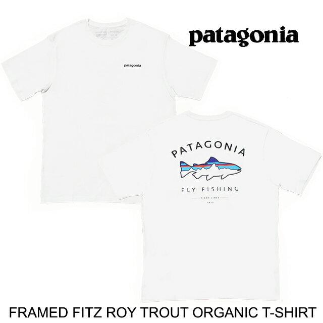 トップス, Tシャツ・カットソー PATAGONIA T FRAMED FITZ ROY TROUT ORGANIC T-SHIRT WHI WHITE 38529