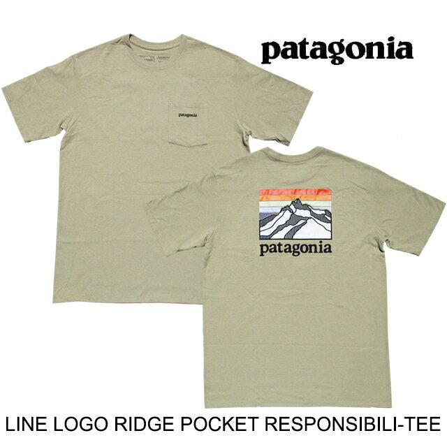 トップス, Tシャツ・カットソー PATAGONIA T LINE LOGO RIDGE POCKET RESPONSIBILI-TEE CSC CLASSIC TAN 38511