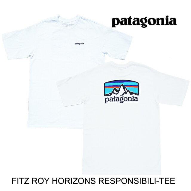トップス, Tシャツ・カットソー PATAGONIA T FITZ ROY HORIZONS RESPONSIBILI-TEE WHI WHITE 38501