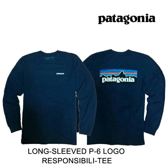 トップス, Tシャツ・カットソー PATAGONIA P-6 T LONG-SLEEVED P-6 LOGO RESPONSIBILI-TEE CNY CLASSIC NAVY 38518 LS TEE