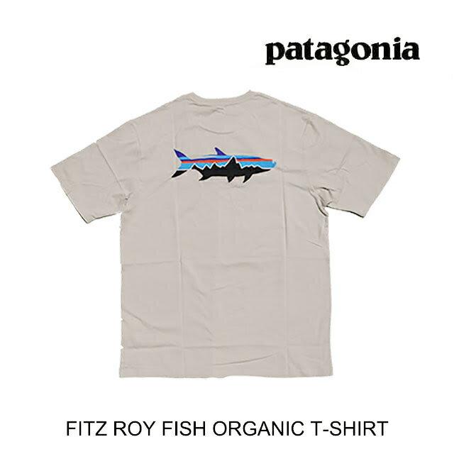 トップス, Tシャツ・カットソー PATAGONIA T FITZ ROY FISH ORGANIC T-SHIRT PUFT PUMICE WFITZ ROY TARPON 38525