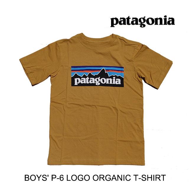 トップス, Tシャツ・カットソー PATAGONIA P-6 T BOYS P-6 LOGO ORGANIC T-SHIRT PRG PRAIRIE GOLD 62153