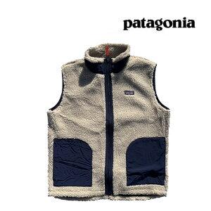 PATAGONIA パタゴニア キッズ レトロX ベスト KIDS' RETRO-X VEST NCV NATURAL W/CLASSIC NAVY 子供用 ※サイズ注意 65619
