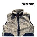 PATAGONIA パタゴニア キッズ レトロX ベスト KIDS' RETRO-X VEST NCV NATURAL W/CLASSIC NAVY 子供用 ※サイズ注意 65619 2