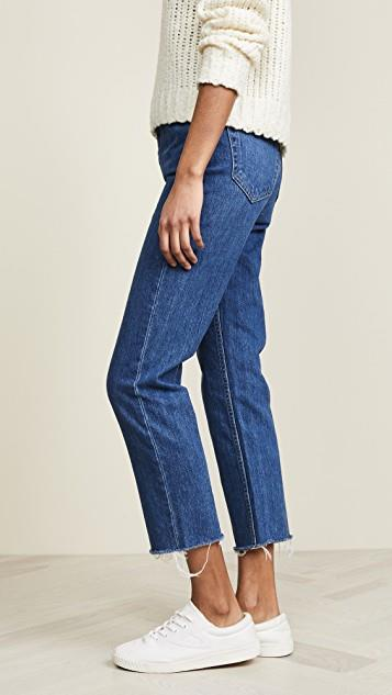 Harper Crop Slim Straight Jeans レディース