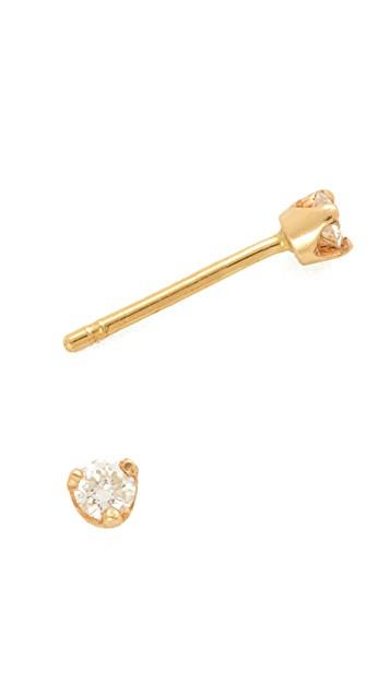 Diamond Prong Stud Earrings レディース