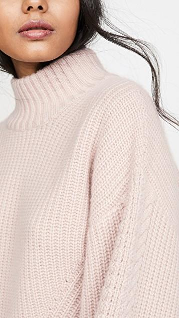 Rennes Oversized Cable Knit Cashmere Sweater レディース