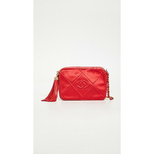 What Goes Around Comes Around Chanel Red Satin Camera Bag Women