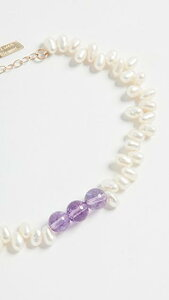 Amethyst and Pearl Bracelet レディース