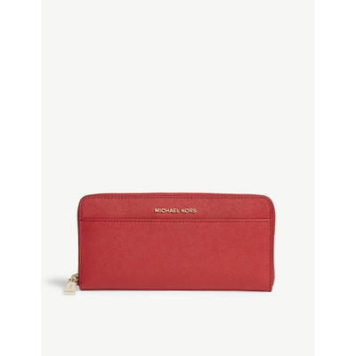 75097d9a14a8 マイケル コース 財布 money pieces saffiano leather オンライン continental wallet Bright  red:active-store Michael Kors/マイケル コース/財布