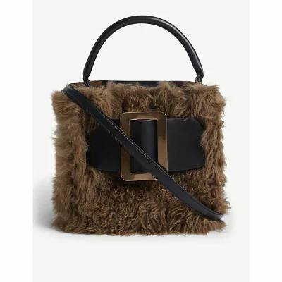 a1276c9849c8 ボーイ boyy ショルダーバッグ devon shearling and leather shoulder bag Black bison ボーイ  boyy/ショルダーバッグ