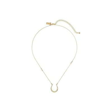 ケイト スペード Kate Spade New York ネックレス Wild Ones Pave Horseshoe Mini Pendant Necklace Clear/Gold