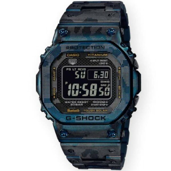 ジーショックウォッチG-ShockWatchesGMWB5000TCF-2TitaniumMetalWatch(blue)ユニセ