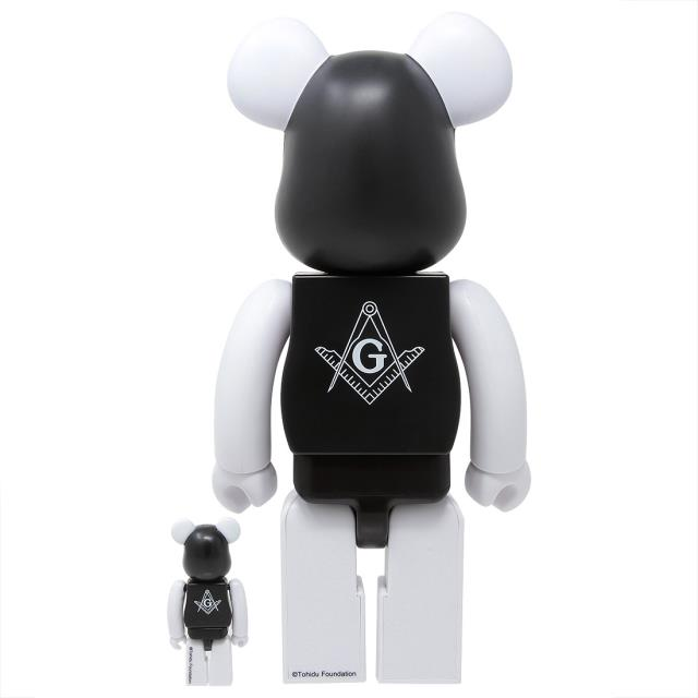 男女兼用アクセサリー, その他  Medicom x Freemasonry x Fragment Design Black 100 400 Bearbrick Figure Set (black)