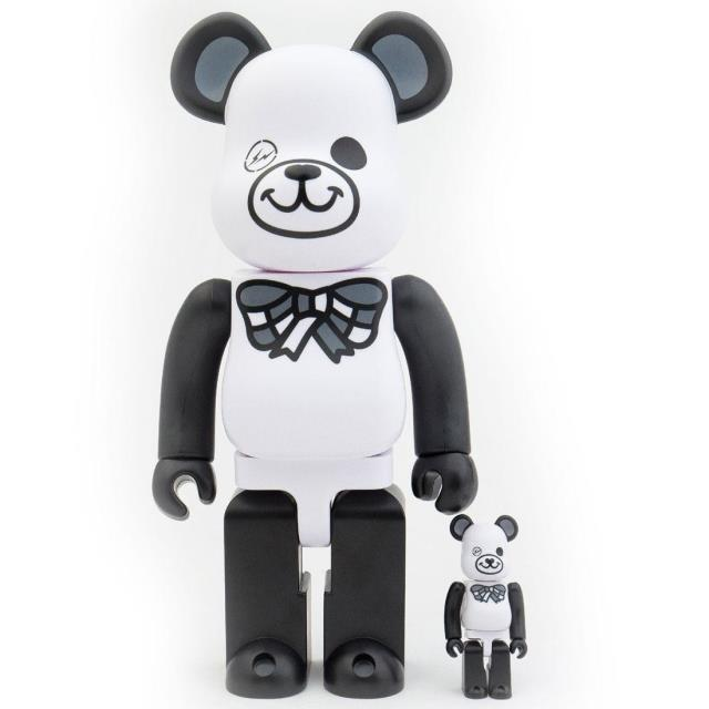 男女兼用アクセサリー, その他  Medicom x Freemasonry x Fragment Design White 100 400 Bearbrick Figure Set (white)