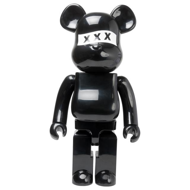 男女兼用アクセサリー, その他  Medicom God Selection XXX Black 1000 Bearbrick Figure (black)