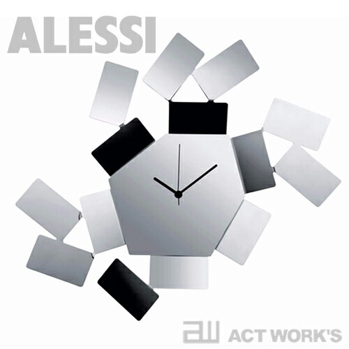 ALESSI ウォールクロック(ステンレス) MT19 Wall Clock La Stanza dello Scirocco 掛け時計 シロッコの部屋 【アレッシィ デザイン雑貨 インテリア リビング アレッシイ オフィス 店舗】