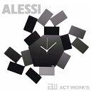 《全2色》ALESSI ウォールクロック MT19W/B Wall Clock La Stanza dello Scirocco 掛け時計 シロッコの部屋 【アレッシィ デザイン雑貨 インテリア リビング アレッシイ オフィス 店舗】