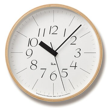 LEMNOS RIKI CLOCK RC 電波クロック L リキクロック 電波時計 【タカタレムノス デザイン雑貨 壁掛け時計 ウォールクロック スタイリッシュ インテアリア 北欧 ナチュラル ウッド リビング ダイニング キッチン オフィス 店舗】
