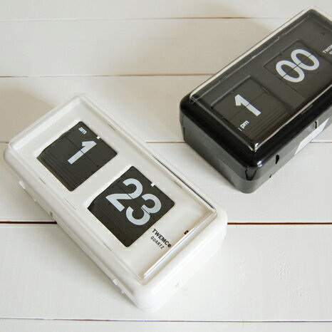 TWEMCO トゥエンコ 置き掛け兼用パタパタ時計 QT−30