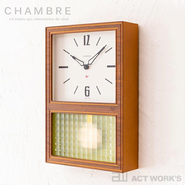 置き時計・掛け時計, 掛け時計 2CHAMBRE GLASS PENDULUM CLASSIC interzero CLOCK