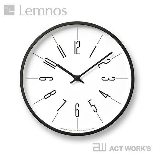《全3種》LEMNOS 時計台の時計(直径約25cm) KK13-16 【タカタレムノス デザイン雑貨 掛け時計 クロック シンプル インテリア 壁時計 北欧 電波時計】