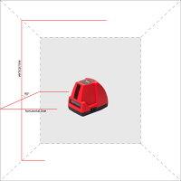 レーザー墨出し器 ファントム2Dベーシック(本体・L字金具付きセット)受光器対応 高輝度/1V1H/レーザーレベル/墨出器/測定器/オートラインレーザー/レーザーライン/墨出しレーザー/測量/建築/自動補正/墨出し機/墨出機/コンパクト/レーザー水平器/送料無料