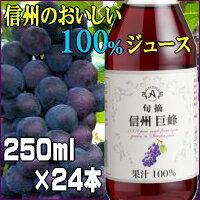 【送料無料】特別厳選果実果汁100%信州巨峰250ml×24本【smtb-k】【kb】