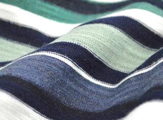 ボーダー長袖Tシャツメンズアクセエアリーが映える9分袖丈カットソーメンズマルチボーダーボートネックロンTメンズファッションカジュアルP16Sep15